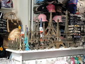 Effel Tower , french souvenirs — Stock Photo