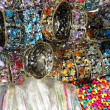 Lot of colorful bracelets — Stock Photo