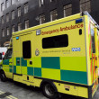 British Emergency Ambulance in London, Editorial - Stock Photo
