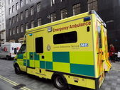 British Emergency Ambulance in London, Editorial — Stock Photo