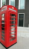Red telephone booth in Hanover Square, London — 图库照片