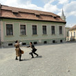 Duel in town of Sighisoara — Stock Photo #11919338