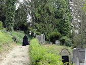 Vecchio cimitero a sighisoara, in transilvania, romania — Foto Stock