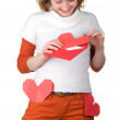 Royalty-Free Stock Photo: Girl holding loveletter
