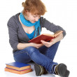 Student sitting with book — Stock Photo