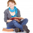 Student sitting with book — Stock Photo #11387238