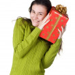 Stock Photo: Girl holds gift