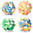 Origami geometric stars — Stock Photo