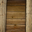Boarded up old wooden fence — Stock Photo