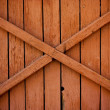 Stock Photo: Boarded up old wooden fence