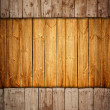 Stock Photo: Boarded up old wooden fence with copy-space
