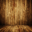 Wooden room interior — Stock Photo