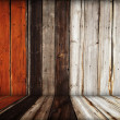 Stock Photo: Dark wooden room interior