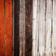 Old painted wooden fence — Stock Photo