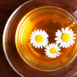 Cup of aromatic camomile tea — Stock Photo #11387985