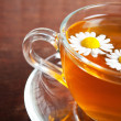 Chamomile tea closeup — Stock Photo