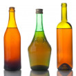 Old multicolored wine bottles — Stock Photo #11388061