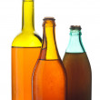 Old multicolored wine bottles — Stock Photo