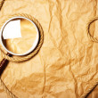 Magnifying glass and rope — 图库照片