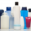 Stock Photo: Collection of bottles of health and beauty products