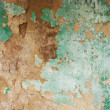 Green weathered painted wall — Stock Photo