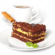 Chocolate cake with a cup of coffee — Stock Photo #11388418