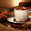 Coffee and violin — Stock Photo