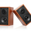 Wooden loudspeaker — Stock Photo #11388498
