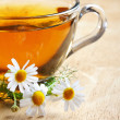 Stock Photo: Herbal chamomile tea
