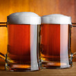 Two glasses with beer — Stock Photo