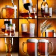 Beautiful alcohol drinks collage — Stock Photo #11388639