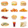 Fast food set - Stock Photo
