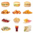 Fast food set — Stock fotografie