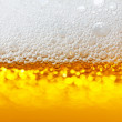Beer bubbles closeup — Stock Photo