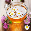 Hot herbal tea - Stock Photo