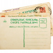 Vintage 1900s russian postcards stack — Stock Photo