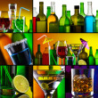 Stock Photo: Beautiful alcohol drinks collage