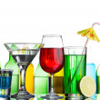 Stock Photo: Different alcohol drinks and cocktails