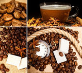 Collage de café hermosa — Foto de Stock