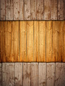 Boarded up old wooden fence with copy-space — Stock Photo