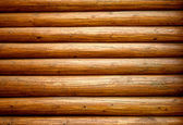 Wooden wall from logs — Stock Photo
