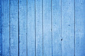 Blue painted wooden fence — Stock Photo