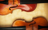 Two old violin detail — Stock Photo