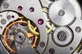 Mechanism gear of vintage clock — Foto Stock