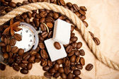 Coffee time - beans and spices — Stock Photo