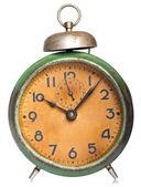 Vintage clock isolated on white — Stock Photo