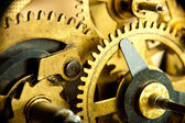 Gears from old mechanism closeup — Stock Photo