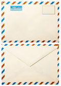 "Old envelope with ""by air"" — Stock Photo"