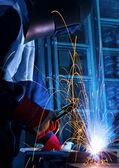Trabalho soldador — Foto Stock