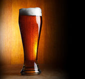 Glass of beer with copy-space — Stock Photo